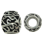 Zinc Alloy European Beads, Drum, without troll & enamel, nickel, lead & cadmium free, 10x11mm, Hole:Approx 5mm, 10PCs/Bag, Sold By Bag