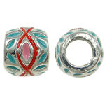 Zinc Alloy European Beads, Rondelle, without troll & enamel, nickel, lead & cadmium free, 11x9mm, Hole:Approx 5mm, 10PCs/Bag, Sold By Bag