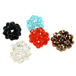 Round Crystal Beads, mixed colors, 18-20mm, 5PCs/Bag, Sold By Bag