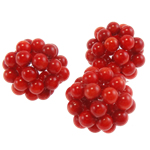 Natural Coral Beads Round red 18-22mm
