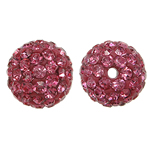 Rhinestone Resin Beads, Round, with rhinestone, Vintage Rose, 10x10mm, Hole:Approx 1.5mm, 10PCs/Bag, Sold By Bag