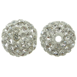Rhinestone Resin Beads, 10x10mm, Hole:Approx 2mm, 10PCs/Bag, Sold by Bag