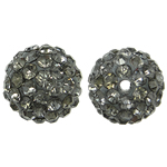 Rhinestone Resin Beads, Round, with rhinestone, Greige, 10x10mm, Hole:Approx 1.5mm, 10PCs/Bag, Sold By Bag