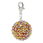 Resin Pendant, Round, orange, 20mm, Hole:Approx 4x4.5mm, 50PCs/Bag, Sold By Bag