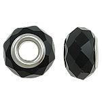 European kristalli helmiä, Rondelli, hopeaa Kaksoisjohdin ilman peikko, Suihkukone, 14x9mm, Reikä:N. 5mm, 20PC/laukku, Myymät laukku