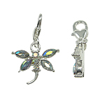 Zinc Alloy Lobster Clasp Charm, Dragonfly, nickel, lead & cadmium free, 20x32x3mm, Hole:Approx 5x4mm, 10PCs/Bag, Sold By Bag