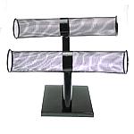 Iron Bracelet Display, Rack, black, nickel, lead & cadmium free, 54x250mm, 190mm, 150mm, 3PCs/Lot, Sold By Lot