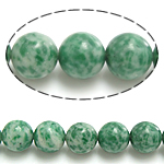 Natural Green Spot Stone Beads, Round, 4mm, Hole:Approx 0.8mm, Length:Approx 15 Inch, 10Strands/Lot, Approx 90PCs/Strand, Sold By Lot