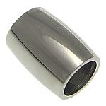 Roestvrijstaal Buis Kralen, Roestvrij staal, Ronde buis, oorspronkelijke kleur, 12x9mm, Gat:Ca 6mm, 50pC's/Lot, Verkocht door Lot
