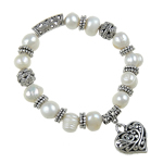 Fashion Bracelet Jewelry, Freshwater Pearl, with Zinc Alloy, 10-12mm, Sold Per 7.5 Inch Strand