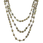Natural Freshwater Pearl Necklace Rice mixed colors 7-8mm Sold Per 72.5 Inch Strand