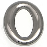 Stainless Steel Connector, Flat Oval, original color, 12x14.50x3mm, Hole:Approx 5x10mm, 50PCs/Lot, Sold By Lot