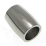 Roestvrijstaal Buis Kralen, Roestvrij staal, Drum, oorspronkelijke kleur, 12x9mm, Gat:Ca 6mm, 50pC's/Lot, Verkocht door Lot