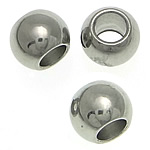 Stainless Steel Jewelry Beads, Drum, original color, 4.50x6mm, Hole:Approx 3mm, 500PCs/Lot, Sold By Lot