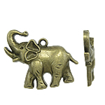 Zinc Alloy Animal Pendants, antique bronze color plated, nickel, lead & cadmium free, 38x30x5mm, Hole:Approx 2.5mm, Approx 170PCs/Bag, Sold By Bag