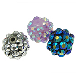 Resin Rhinestone Beads, 10x12mm, Hole:Approx 1.5mm, 100PCs/Bag, Sold by Bag