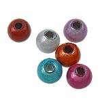 Cudowne akrylowe koraliki, Akryl, Koło, mieszane kolory, 4mm, otwór:około 2mm, 14000komputery/torba, sprzedane przez torba