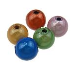 Cudowne akrylowe koraliki, Akryl, Koło, mieszane kolory, 8mm, otwór:około 2mm, 1750komputery/torba, sprzedane przez torba