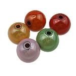 Cudowne akrylowe koraliki, Akryl, Koło, mieszane kolory, 14mm, otwór:około 2.5mm, 335komputery/torba, sprzedane przez torba