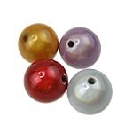 Cudowne akrylowe koraliki, Akryl, Koło, mieszane kolory, 25mm, otwór:około 3mm, 61komputery/torba, sprzedane przez torba