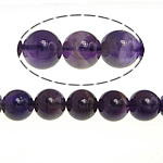 Natural Amethyst Beads, Round, February Birthstone, purple, 10mm, Hole:Approx 1mm, Approx 39PCs/Strand, Sold Per Approx 15.5 Inch Strand