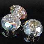 European kristalli helmiä, Rondelli, ilman peikko & kasvot, Kristalli, 8-9x14-15mm, Reikä:N. 6mm, 200PC/laukku, Myymät laukku