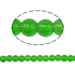 Round Crystal Beads, Fern Green, 6mm, Hole:Approx 1.5mm, Length:11 Inch, 10Strands/Bag, Sold By Bag