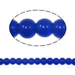 Round Crystal Beads, Dark Sapphire, 6mm, Hole:Approx 1.5mm, Length:11.8 Inch, 10Strands/Bag, Sold By Bag