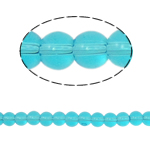 Round Crystal Beads, Aquamarine, 6mm, Hole:Approx 1.5mm, Length:11.5 Inch, 10Strands/Bag, Sold By Bag