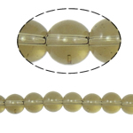 Round Crystal Beads, Greige, 10mm, Hole:Approx 2mm, Length:12 Inch, 10Strands/Bag, Sold By Bag