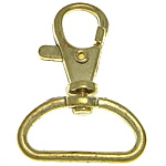 Zinc Alloy Lobster Swivel Clasp, gold color plated, nickel, lead & cadmium free, 30x42x6.50mm, Hole:Approx 24.8x8.5mm, 200PCs/Bag, Sold By Bag