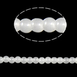 Round Crystal Beads, White Alabaster, 4mm, Hole:Approx 1mm, Length:12.5 Inch, 10Strands/Bag, Sold By Bag