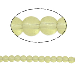 Round Crystal Beads, Lime, 4mm, Hole:Approx 1mm, Length:12.5 Inch, 10Strands/Bag, Sold By Bag
