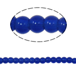 Round Crystal Beads, Dark Sapphire, 4mm, Hole:Approx 1mm, Length:10.5 Inch, 10Strands/Bag, Sold By Bag