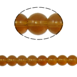 Round Crystal Beads, Smoked Topaz, 8mm, Hole:Approx 1.5mm, Length:12 Inch, 10Strands/Bag, Sold By Bag