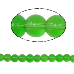 Round Crystal Beads, Fern Green, 8mm, Hole:Approx 1.5mm, Length:12 Inch, 10Strands/Bag, Sold By Bag