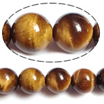 Tiger Eye Beads, Round, natural, 10mm, Hole:Approx 1.5mm, Length:approx 15.5 Inch, 5Strands/Lot, Sold by Lot