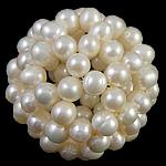 Koraliki z hodowlanych pereł w kształcie piłki, Perła naturalna słodkowodna, Koło, biały, 40mm, sprzedane przez PC