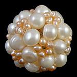 Koraliki z hodowlanych pereł w kształcie piłki, Perła naturalna słodkowodna, Koło, 34mm, sprzedane przez PC