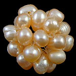 Ball Cluster Cultured Pearl Beads, Freshwater Pearl, Round, pink, 18mm, 10PCs/Bag, Sold By Bag