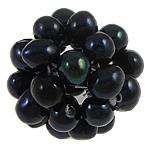 Koraliki z hodowlanych pereł w kształcie piłki, Perła naturalna słodkowodna, Koło, czarny, 15-20mm, sprzedane przez PC