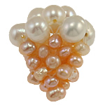 Ball Cluster Cultured Pearl Beads, Freshwater Pearl, Grape, 18x20mm, 5PCs/Bag, Sold By Bag