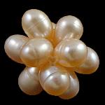 Koraliki z hodowlanych pereł w kształcie piłki, Perła naturalna słodkowodna, Koło, różowy, 18mm, 10komputery/torba, sprzedane przez torba