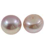 Half Drilled Cultured Freshwater Pearl Beads, Dome, natural, half-drilled, light purple, Grade AA, 13-14mm, Hole:Approx 0.8mm, 10Pairs/Bag, Sold By Bag