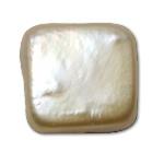 Koraliki z pereł hodowlanych słodkowodnych bez otworu, Perła naturalna słodkowodna, Kwadrat, 11-11.5mm, około 400komputery/torba, sprzedane przez torba