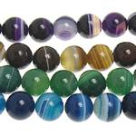 الطبيعية الخرز العقيق الرباط, الدانتيل العقيق, جولة, حجم مختلفة للاختيار, الألوان المختلطة, حفرة:تقريبا 1.5mm, طول:تقريبا 15 بوصة, تباع بواسطة الكثير