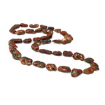 Natural Freshwater Pearl Necklace, Nuggets, red, 12-20mm, Sold Per 32 Inch Strand