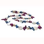 Naszyjnik z naturalnych pereł słodkowodnych, Perła naturalna słodkowodna, ze Muszla, Bryłki, Naturalne, 20mm, sprzedawane na 36 cal Strand