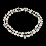 Natural Freshwater Pearl Necklace Grade A 9-10mm Sold Per Approx 32 Inch Strand