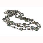 Kryształowy naszyjnik z perłami słodkowodnymi, Perła naturalna słodkowodna, ze Kryształ, Bryłki, Naturalne, klasy AA, 5-6mm, sprzedawane na 18 cal Strand